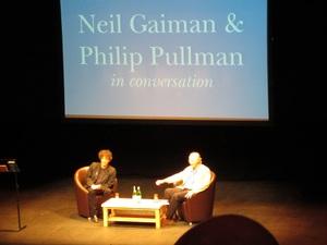 Gaiman and Pullman.JPG