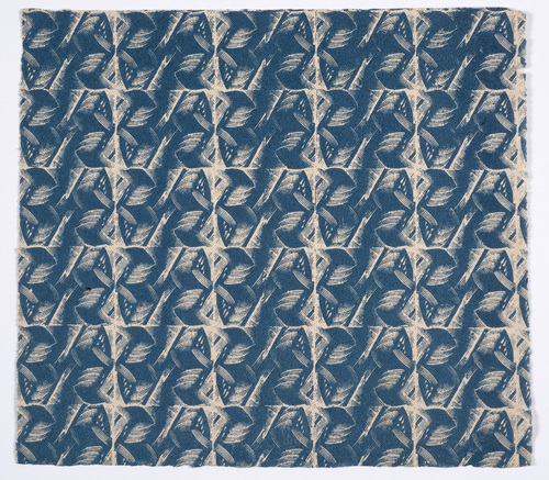 Pattern - 'Municipal' patter paper for the Little Gallery, from wood engraving, c1930 © Estate of Enid Marx.jpg