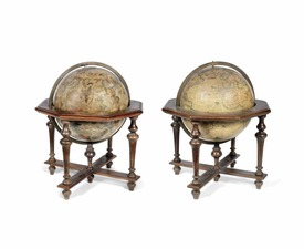 A RARE PAIR OF VINCENZO CORONELLI 18 12-INCH TERRESTRIAL AND CELESTIAL GLOBES on stands, ITALIAN, PUBLISHED 1696 copy.jpg