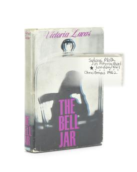 Sylvia Plath's Personal Copy of The Bell Jar First Edition Signed and Dated 1962 Image No. 1 copy.jpg