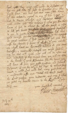 CROMWELL (OLIVER) Autograph letter signed copy.jpg